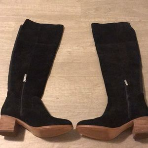 6d2a7852d5e Marc Fisher black suede boots knee high size 7